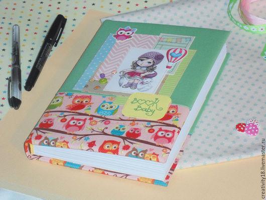 """Блокноты ручной работы. Ярмарка Мастеров - ручная работа. Купить Мамин блокнот """"Совята"""". Handmade. Разноцветный, подарок на рождение, книга"""