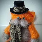 """Куклы и игрушки ручной работы. Ярмарка Мастеров - ручная работа Вязаный кот """"Остап Бендер"""". Handmade."""