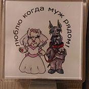 Магниты ручной работы. Ярмарка Мастеров - ручная работа магнит Свадьба. Handmade.