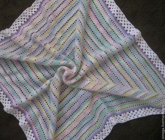 Пледы и одеяла ручной работы. Ярмарка Мастеров - ручная работа. Купить Плед детский-11. Handmade. Однотонный, плед крючком