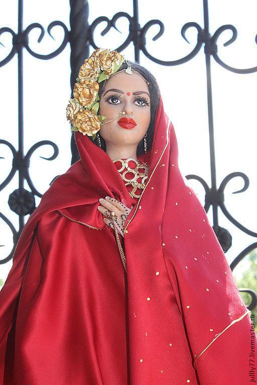 Коллекционные куклы ручной работы. Ярмарка Мастеров - ручная работа. Купить Рашми. Handmade. Ярко-красный, интерьерная кукла, ЛивингДолл