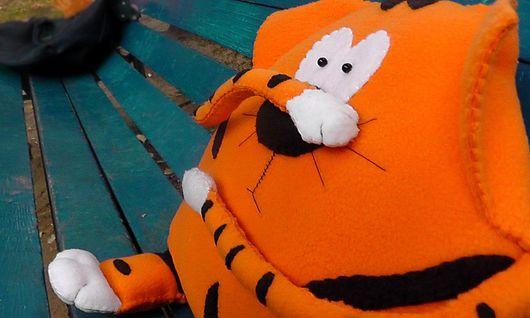 """Текстиль, ковры ручной работы. Ярмарка Мастеров - ручная работа. Купить Подушка """"Тигра"""". Кот в подарок.. Handmade. Комбинированный, флис"""