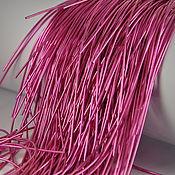 Нитки ручной работы. Ярмарка Мастеров - ручная работа Канитель Ярко-Розовая глянцевая. Handmade.
