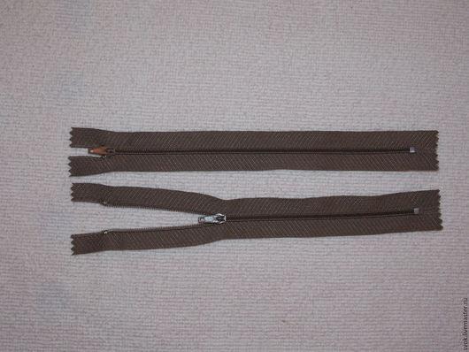 Шитье ручной работы. Ярмарка Мастеров - ручная работа. Купить Молния спиральная 20 см, неразъёмная, коричневый. Handmade. Молния