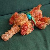 Куклы и игрушки ручной работы. Ярмарка Мастеров - ручная работа Оранжевый слон. Handmade.