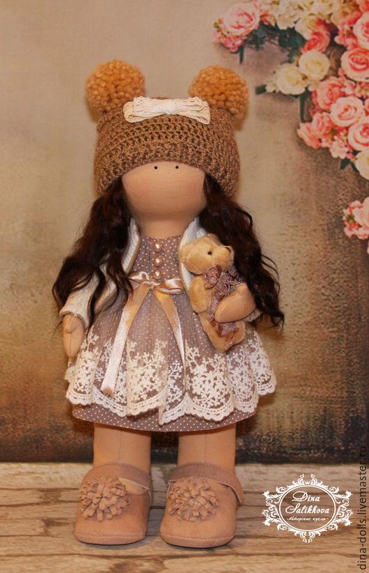 """Куклы тыквоголовки ручной работы. Ярмарка Мастеров - ручная работа. Купить Интерьерная кукла """"Дашенька"""". Handmade. Бежевый"""
