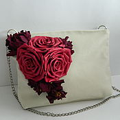 Сумки и аксессуары handmade. Livemaster - original item Crossbody bag . Surround decor. Rose fuchsia. Handmade.