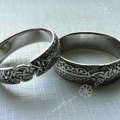Русский стиль handmade. Livemaster - original item RING WITH A COLLAR IN PATTERNS. Handmade.