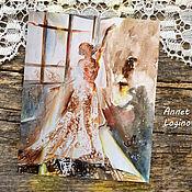 Картины и панно handmade. Livemaster - original item Watercolor painting - Dancing with the sun. Handmade.