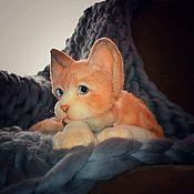 Куклы и игрушки handmade. Livemaster - original item Stuffed Toys: Realistic Devon Rex Cat Toy. Handmade.