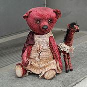 """Куклы и игрушки ручной работы. Ярмарка Мастеров - ручная работа Медведь Тедди.""""Фуксия"""".. Handmade."""