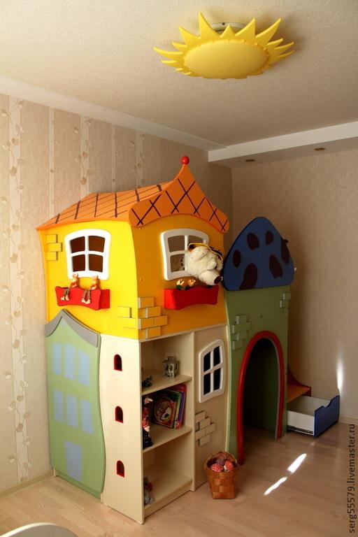 """Детская ручной работы. Ярмарка Мастеров - ручная работа. Купить Проект """"Веселые домики"""". Handmade. Дом, веселое настроение"""