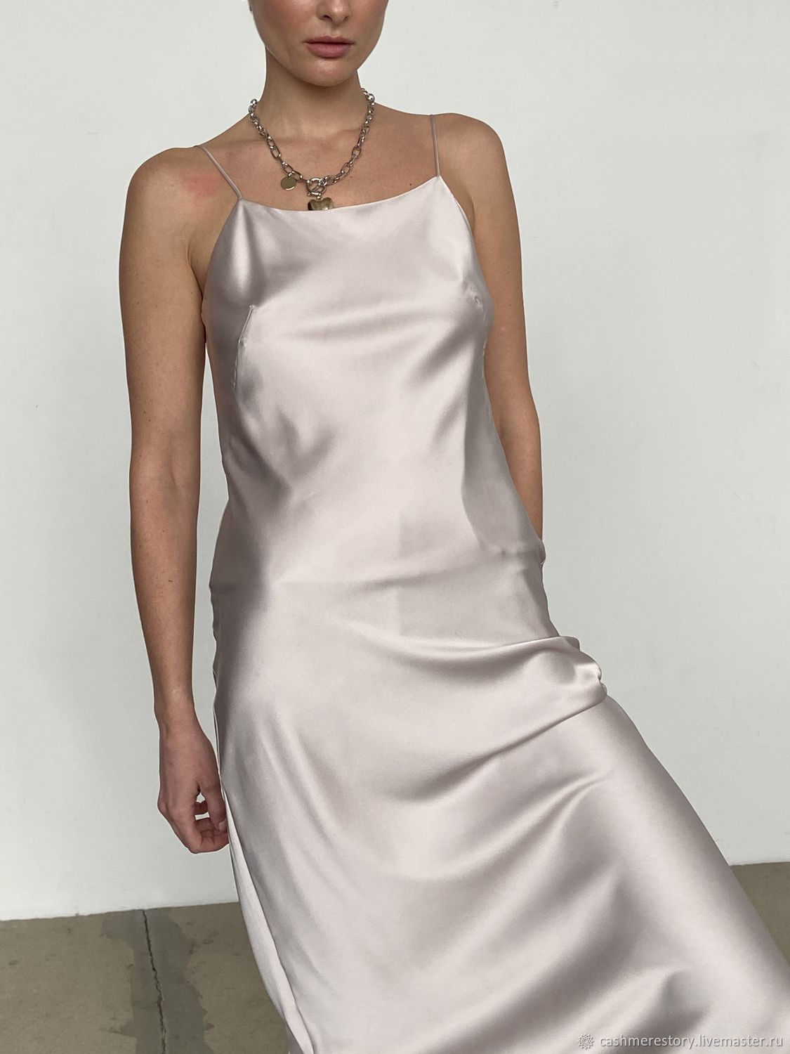 Combination dress with thin straps made of viscose silk Still, Dresses, Moscow,  Фото №1