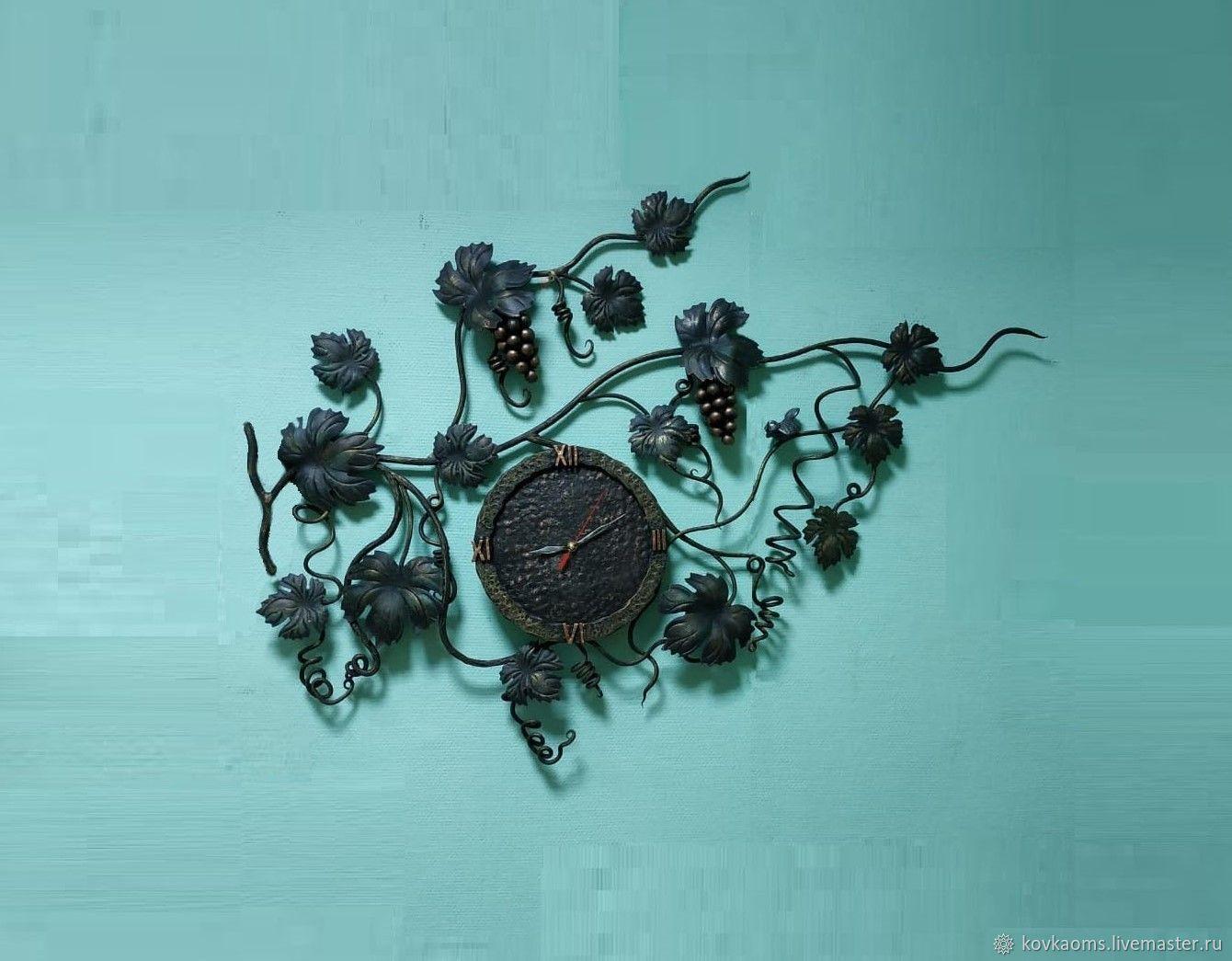 Кованые часы Виноградная лоза, Часы, Москва, Фото №1