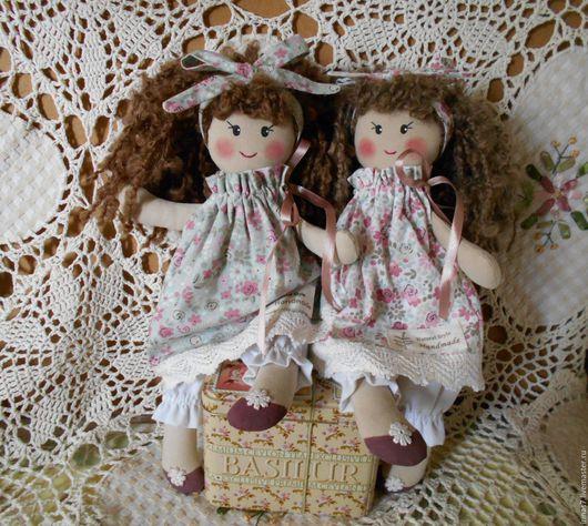 Коллекционные куклы ручной работы. Ярмарка Мастеров - ручная работа. Купить Игровые куколки-подружки. Handmade. Бежевый, подарок для девочки