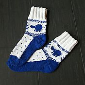 Аксессуары handmade. Livemaster - original item Socks are knitted with spokes. Handmade.