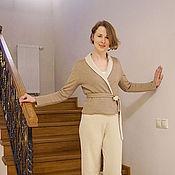 """Одежда ручной работы. Ярмарка Мастеров - ручная работа Жакет """"Два в одном"""" кашемир и шелк. Handmade."""