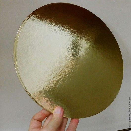 Другие виды рукоделия ручной работы. Ярмарка Мастеров - ручная работа. Купить Подложка для торта 26 см (золото-жемчуг). Handmade.