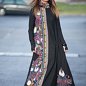 Одежда ручной работы. Ярмарка Мастеров - ручная работа Платье в пол свободное, Длинное платье из хлопка. Handmade.