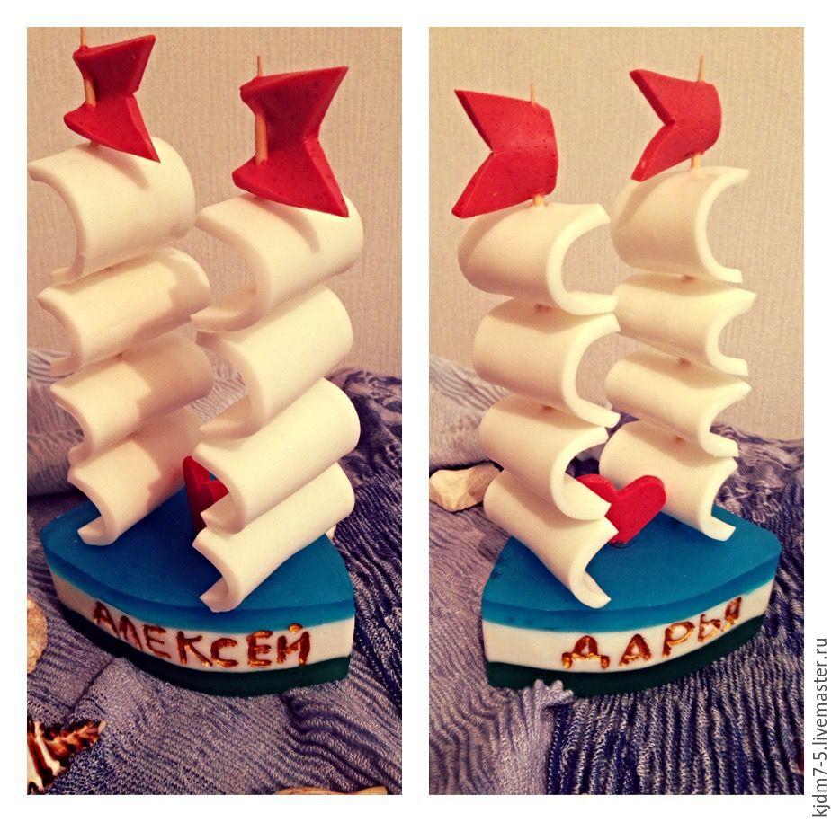 """Купить Мыло """"Корабль"""" - комбинированный, мыло ручной работы, корабль, море, морская свадьба"""