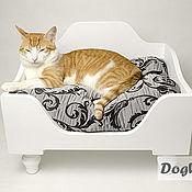 Для домашних животных, ручной работы. Ярмарка Мастеров - ручная работа Лежанка для маленьких собачек и кошек. Handmade.