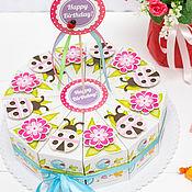 Атрибутика ручной работы. Ярмарка Мастеров - ручная работа Бумажный торт для детского праздника, угощение детей в саду. Handmade.