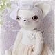 Мишки Тедди ручной работы. Ярмарка Мастеров - ручная работа. Купить Alisia. Handmade. Белый, подарок, шебби, костюмная ткань