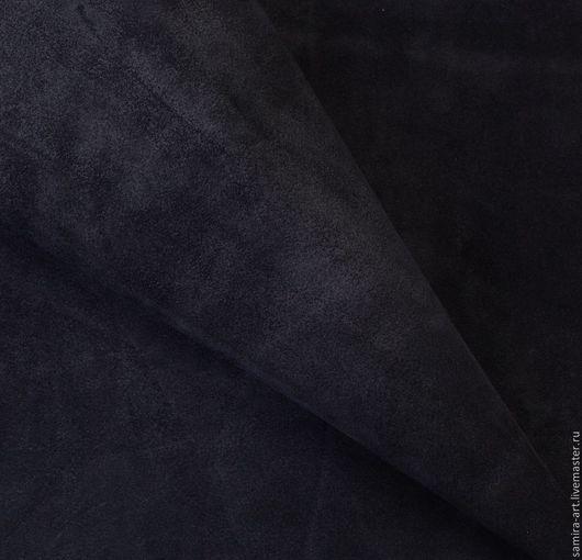 Шитье ручной работы. Ярмарка Мастеров - ручная работа. Купить Замша черная натуральная. Handmade. Черный, кожа, кожа натуральная