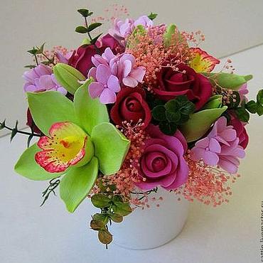 Цветы и флористика ручной работы. Ярмарка Мастеров - ручная работа Оптимистичный микс из разных цветов. Handmade.