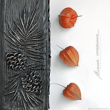 Посуда ручной работы. Ярмарка Мастеров - ручная работа Кедровый орех, бутылка, коричневый, терракотовый, физалис. Handmade.