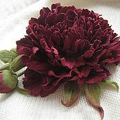 Украшения handmade. Livemaster - original item The colors of the skin .Decoration brooch pin CHERRY PEONY. Handmade.