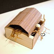 """Фурнитура ручной работы. Ярмарка Мастеров - ручная работа коробочка для украшений """"Бамбук 10"""" 85х85х40мм коричневая. Handmade."""