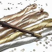 Нитки ручной работы. Ярмарка Мастеров - ручная работа Металлизированные нитки для вышивки на хлопковой основе. Handmade.