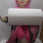 Мягкие игрушки ручной работы. Ярмарка Мастеров - ручная работа Кукла Держатель для полотенца. Handmade.