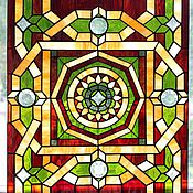 Для дома и интерьера handmade. Livemaster - original item Stained Glass Tiffany. Geometric pattern. Stained glass in the door. Interior. Handmade.