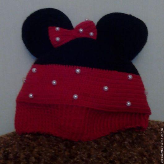 """Шапки ручной работы. Ярмарка Мастеров - ручная работа. Купить Шапочка """"Минни Маус"""". Handmade. Комбинированный, детская шапка"""