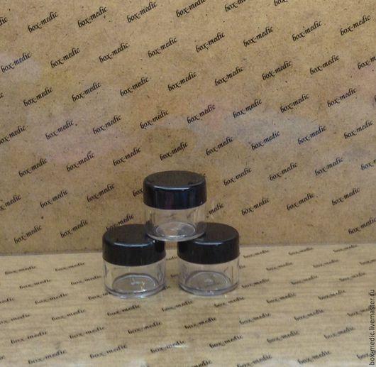 Упаковка ручной работы. Ярмарка Мастеров - ручная работа. Купить Баночка 15 мл. пластик с черной крышкой упаковка 12 штук. Handmade.