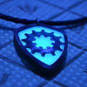 Субкультуры handmade. Livemaster - original item Glowing Steel Sun knight magic necklace medieval amulet shield pendant. Handmade.