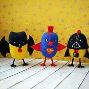 Куклы и игрушки ручной работы. Ярмарка Мастеров - ручная работа Валяная игрушка Цыпленок Супергерой ( Дарт Вейдер, Супермен, Бэтмен ). Handmade.