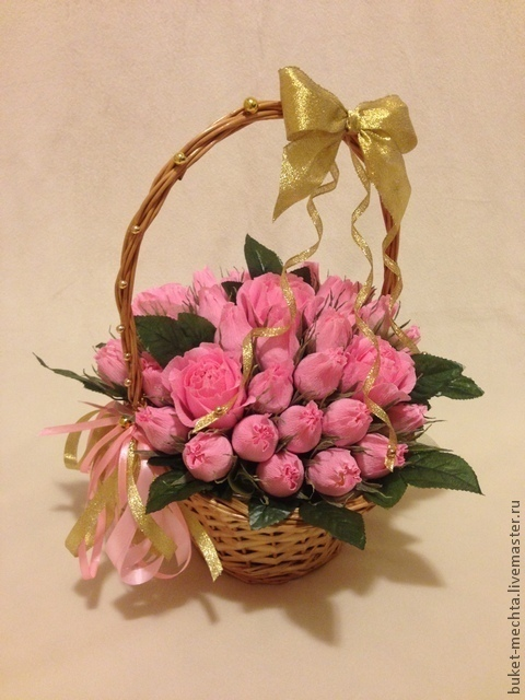 Букеты ручной работы. Ярмарка Мастеров - ручная работа. Купить Сладкий букет роз. Handmade. Розовый, розы, ферреро роше
