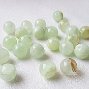 Материалы для творчества handmade. Livemaster - original item Onyx green 8 mm, beads ball smooth, natural stones. Handmade.