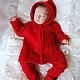 """Одежда ручной работы. Красный костюм """"Маленький чемпион"""". Mария Green Eyes & сompany. Ярмарка Мастеров. Детская одежда"""