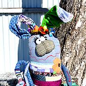 Куклы и игрушки ручной работы. Ярмарка Мастеров - ручная работа Пасхальный зайка с яйцами.. Handmade.