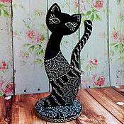 Для дома и интерьера ручной работы. Ярмарка Мастеров - ручная работа Кошка - подставка для колец. Handmade.