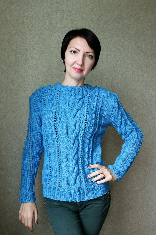 """Кофты и свитера ручной работы. Ярмарка Мастеров - ручная работа. Купить Вязаный пуловер """"Бирю - За"""". Handmade. Пуловер вязаный"""
