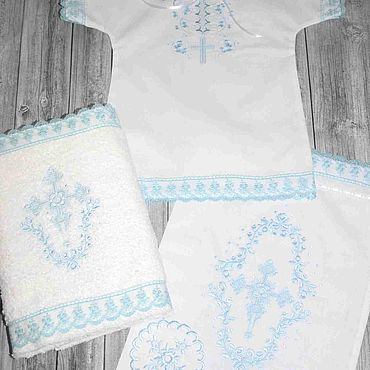 Works for children handmade. Livemaster - original item Baptismal set