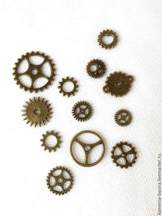 Для украшений ручной работы. Ярмарка Мастеров - ручная работа. Купить Набор шестеренок Б1, 12 шт., от 25 до 10 мм. Handmade.
