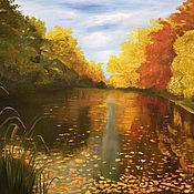 Картины и панно handmade. Livemaster - original item Painting Autumn Autumn landscape Sunny autumn day. Handmade.