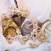 Свадебный салон ручной работы. Ярмарка Мастеров - ручная работа Комплект свадебных украшений, для невесты Нежнейший. Handmade.