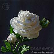 Букеты ручной работы. Ярмарка Мастеров - ручная работа Букеты: СНЕЖНАЯ роза для интерьера. Цветы из холодного фарфора. Handmade.